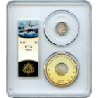 1849 10C Liberty Seated Dime PCGS VF30 Ex.SS Central America with Pinch of Gold