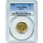 1913 5C Buffalo Nickel, Type 2 PCGS PR66