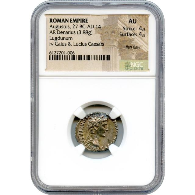 Ancient Rome - 27 BCE-AD 14 Augustus AR Denarius NGC AU