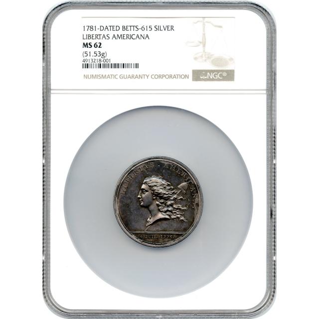(1781) Libertas Americana Silver Medal NGC MS62 - P.O.R.