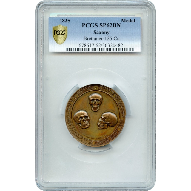 1825 Medal Saxony Kingdom PCGS SP62BN