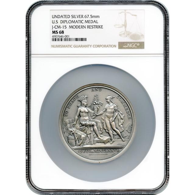 (1776-dated) U.S. Diplomatic Modern Restrike Medal, Silver NGC MS68