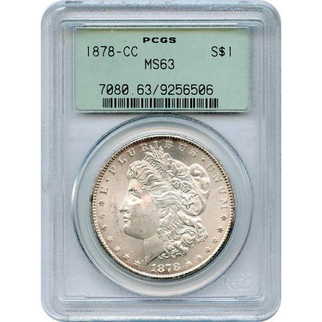 1878-CC $1 Morgan Silver Dollar PCGS MS63