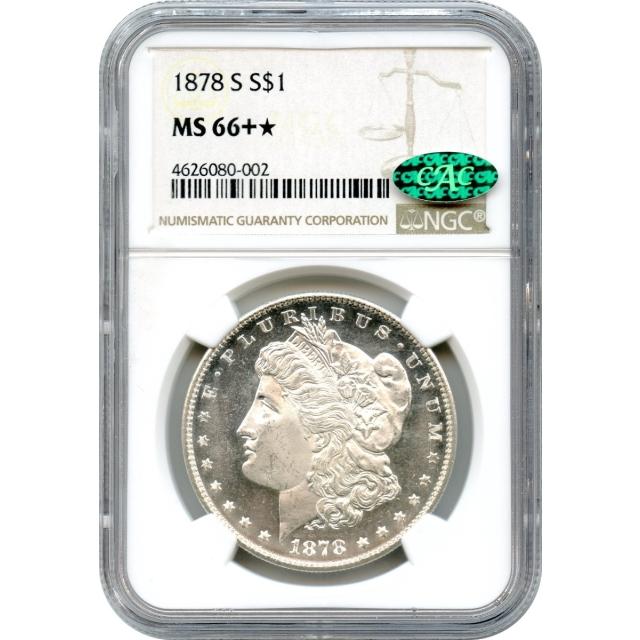 1878-S $1 Morgan Silver Dollar NGC MS66+* (CAC)