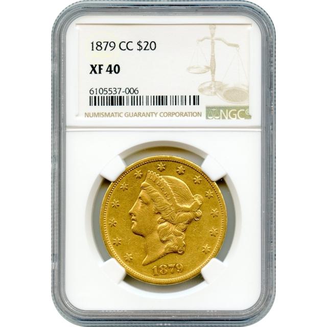 1879-CC $20 Liberty Head Double Eagle NGC XF40