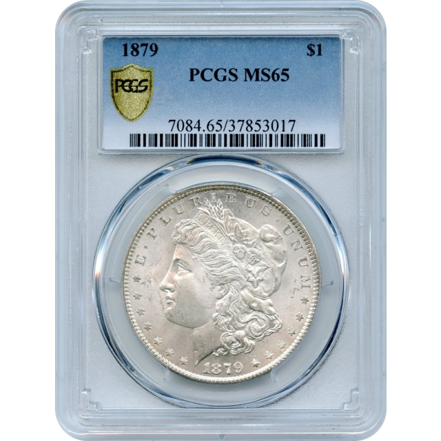 1879 $1 Morgan Silver Dollar PCGS MS65
