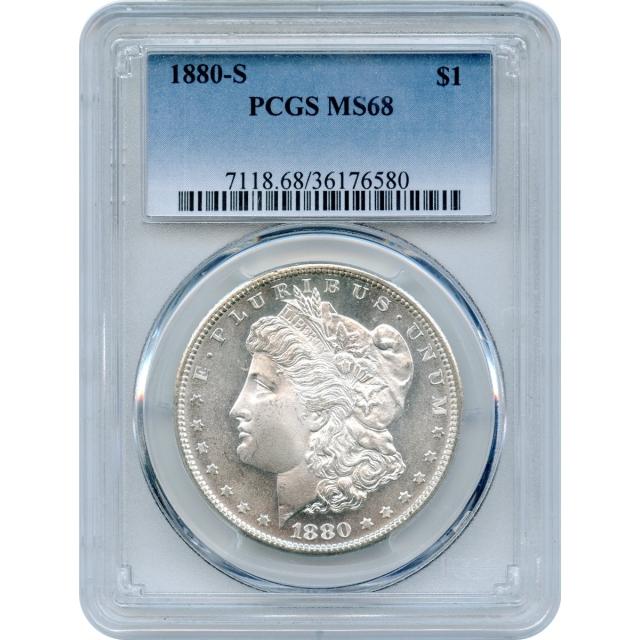 1880-S $1 Morgan Silver Dollar PCGS MS68