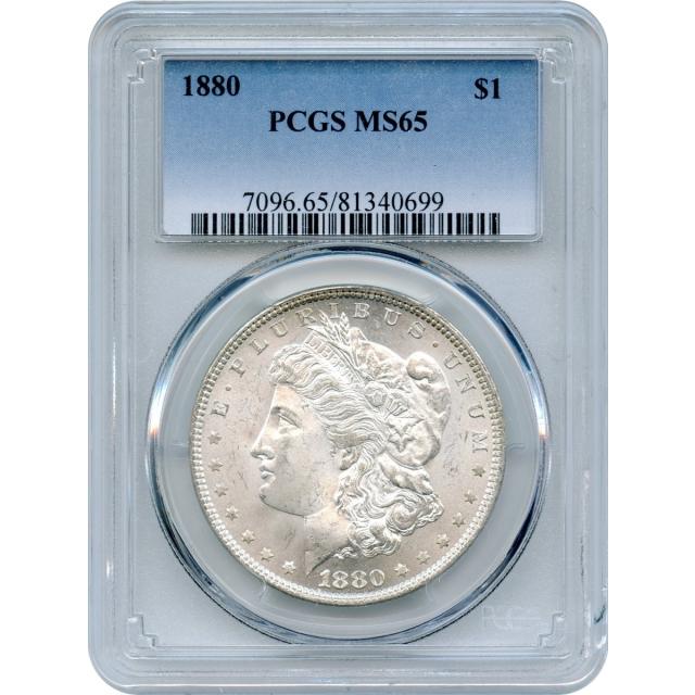 1880 $1 Morgan Silver Dollar PCGS MS65