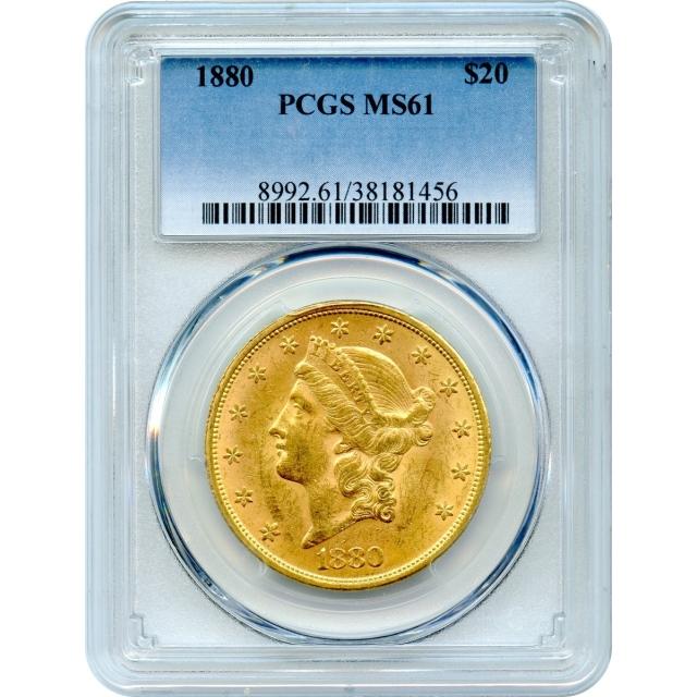 1880 $20 Liberty Head Double Eagle PCGS MS61