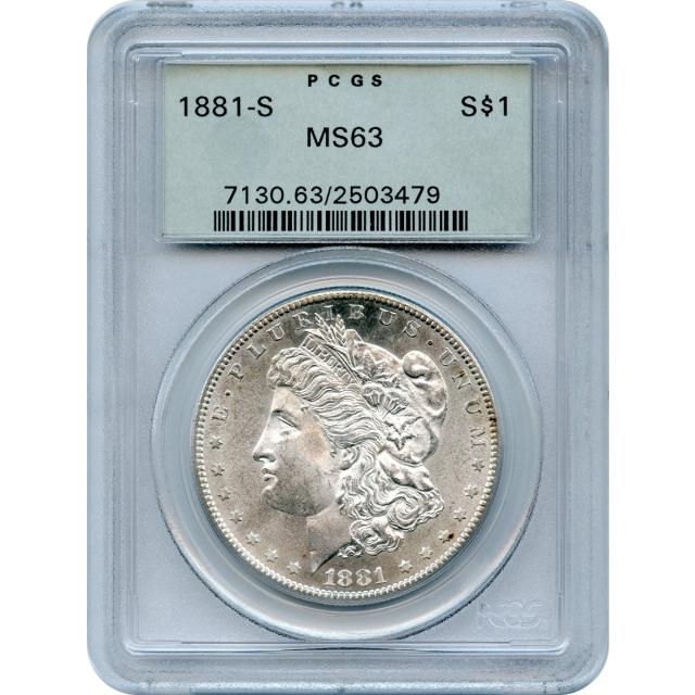 1881-S $1 Morgan Silver Dollar PCGS MS63