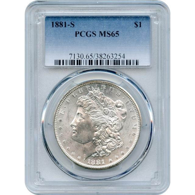 1881-S $1 Morgan Silver Dollar PCGS MS65