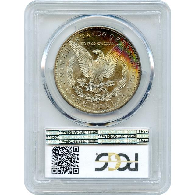 1881-S $1 Morgan Silver Dollar PCGS MS67+ (CAC) - partial reverse rainbow toning!