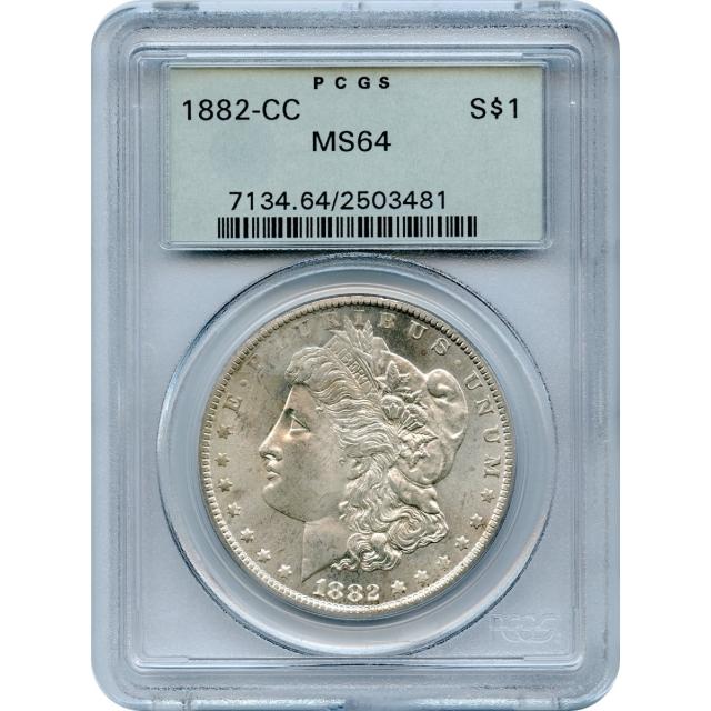 1882-CC $1 Morgan Silver Dollar PCGS MS64