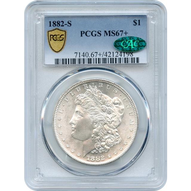 "1882-S $1 Morgan Silver Dollar PCGS MS67+ (CAC) ""Condition Rarity"""