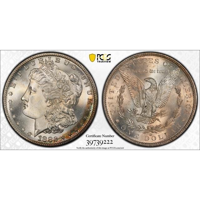 1882-S $1 Morgan Silver Dollar PCGS MS67+ (CAC)