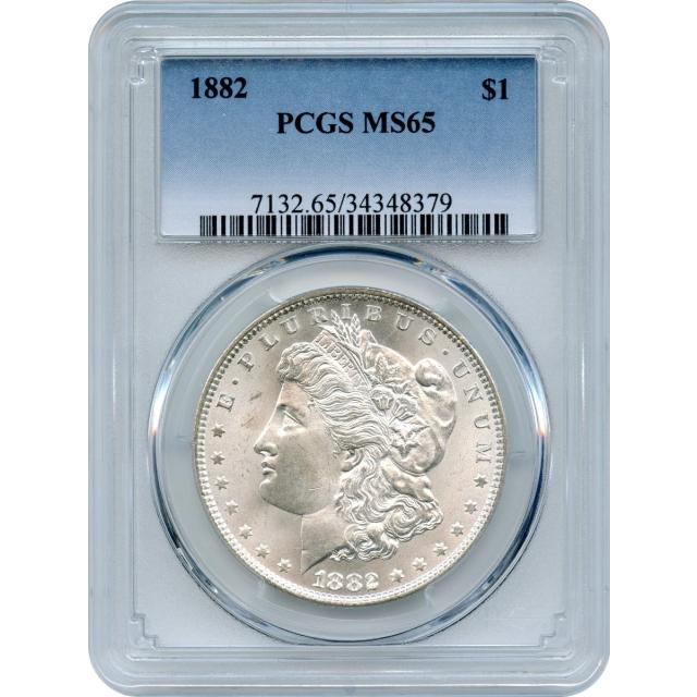 1882 $1 Morgan Silver Dollar PCGS MS65
