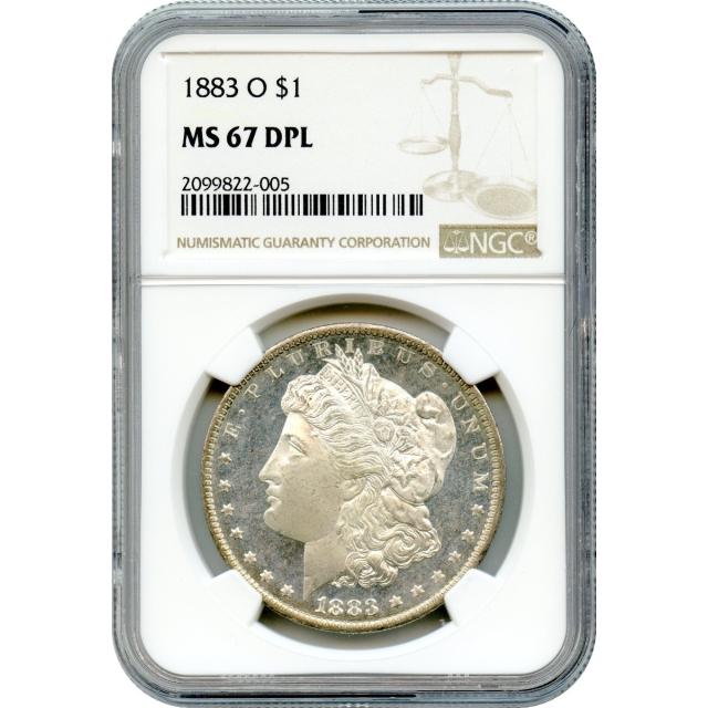 "1883-O $1 Morgan Silver Dollar NGC MS67 DPL ""Sole Finest in DPL"""