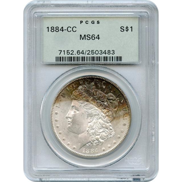 1884-CC $1 Morgan Silver Dollar PCGS MS64