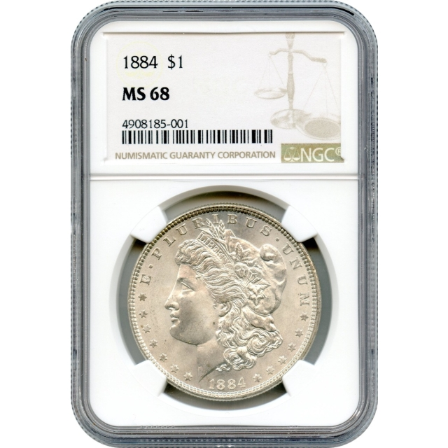 """1884 $1 Morgan Silver Dollar NGC MS68 """"Absolutely Finest Known!"""""""