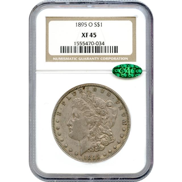 1895-O $1 Morgan Silver Dollar NGC XF45 (CAC)