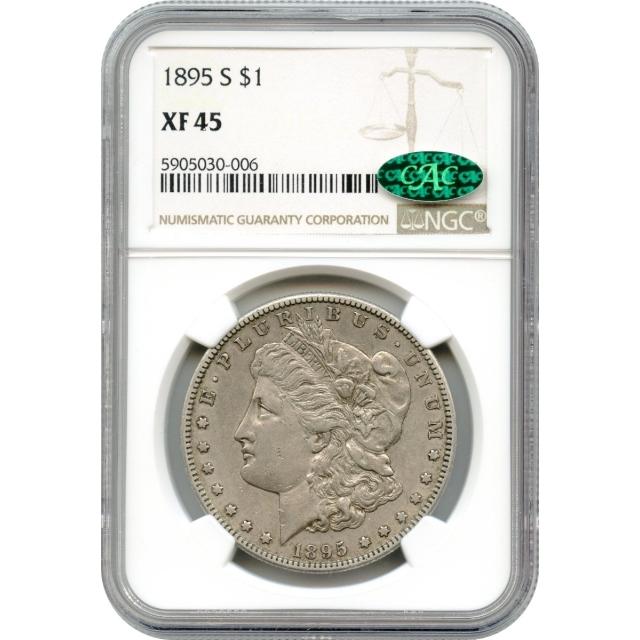 1895-S $1 Morgan Silver Dollar NGC XF45 (CAC)