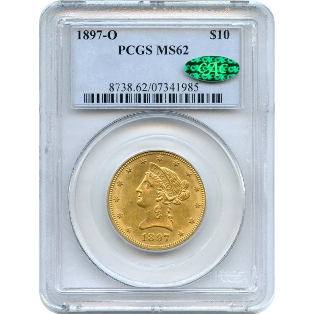 1897-O $10 Liberty Head Eagle PCGS MS62 (CAC)