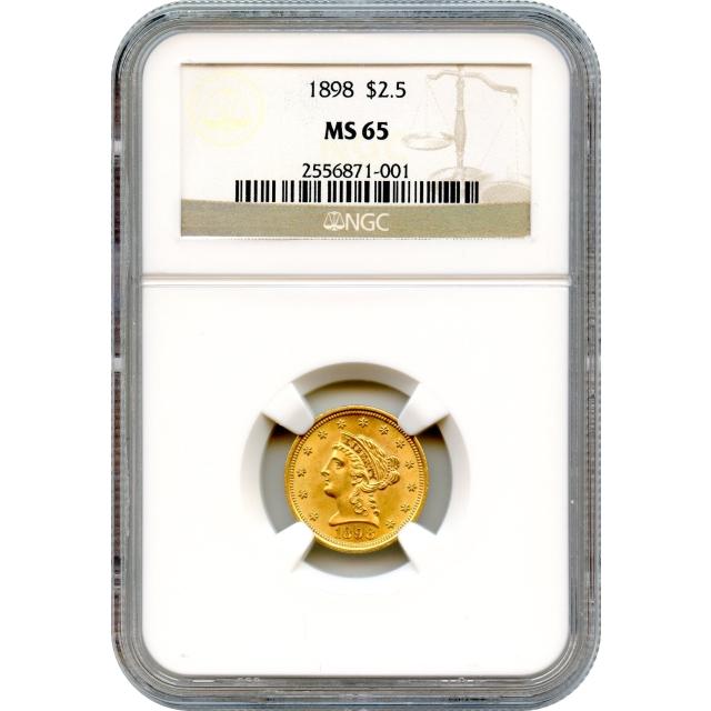 1898 $2.50 Liberty Head Quarter Eagle NGC MS65