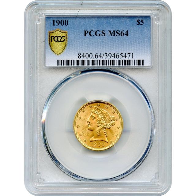 1900 $5 Liberty Head Half Eagle PCGS MS64