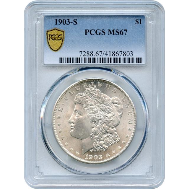 1903-S $1 Morgan Silver Dollar PCGS MS67 - Condition Census Rare Key Date-!