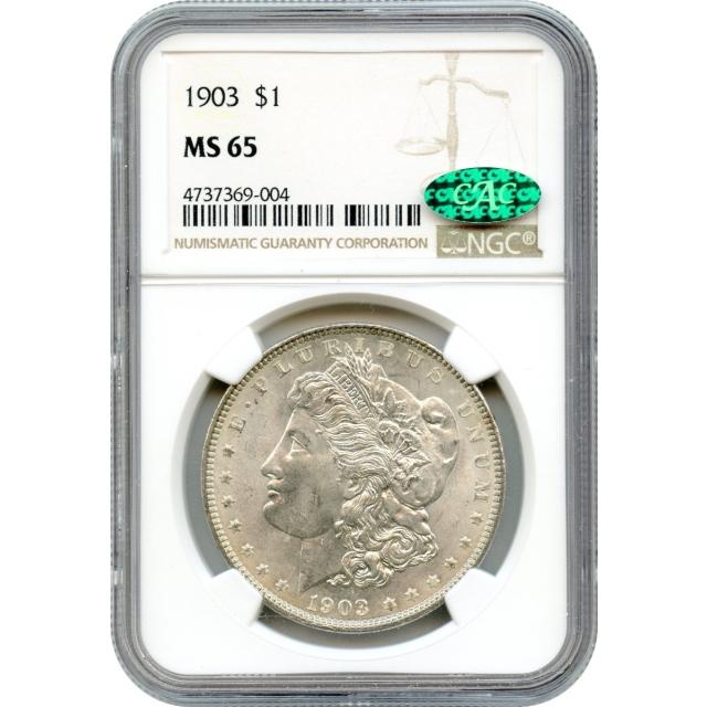 1903 $1 Morgan Silver Dollar NGC MS65 (CAC)