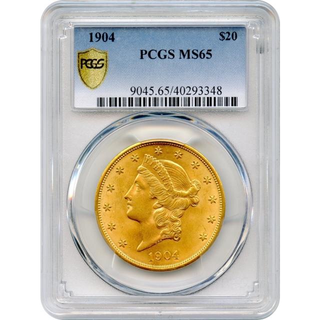 1904 $20 Liberty Head Double Eagle PCGS MS65