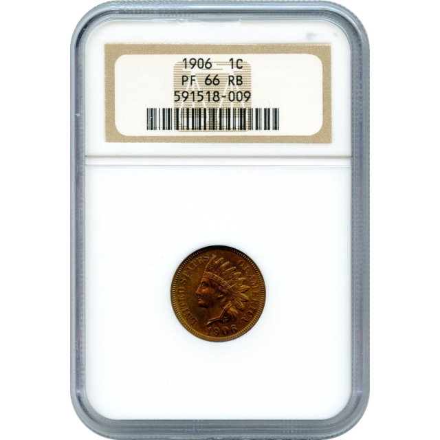 """1906 1C Indian Head Cent NGC PR66 Red Brown """"Sold Only Within Complete 1906 Proof Set"""""""