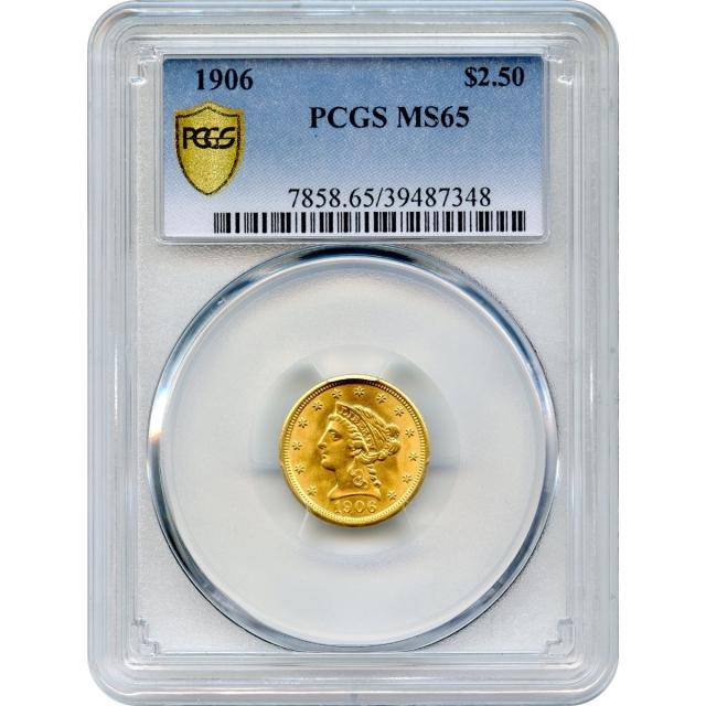 1906 $2.50 Liberty Head Quarter Eagle PCGS MS65