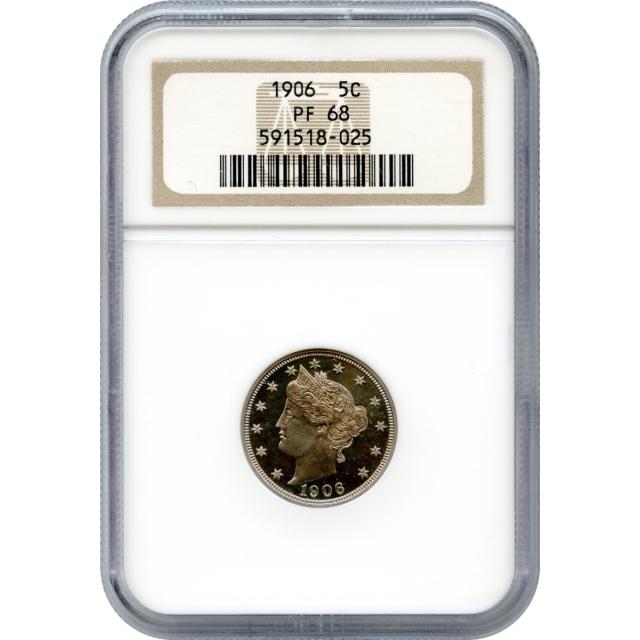 1906 5C Liberty Head Nickel NGC PR68