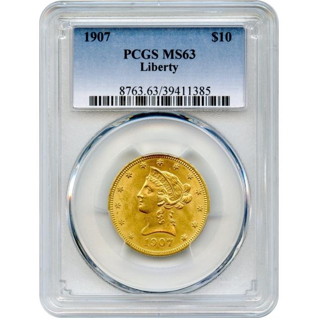 1907 $10 Liberty Head Eagle PCGS MS63