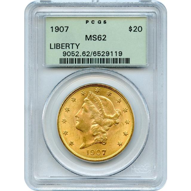 1907 $20 Liberty Head Double Eagle PCGS MS62