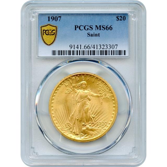 1907 $20 Saint Gaudens Double Eagle PCGS MS66