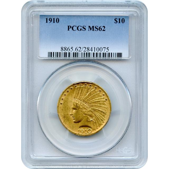 1910 $10 Indian Head Eagle PCGS MS62