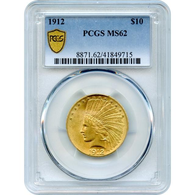 1912 $10 Indian Head Eagle PCGS MS62