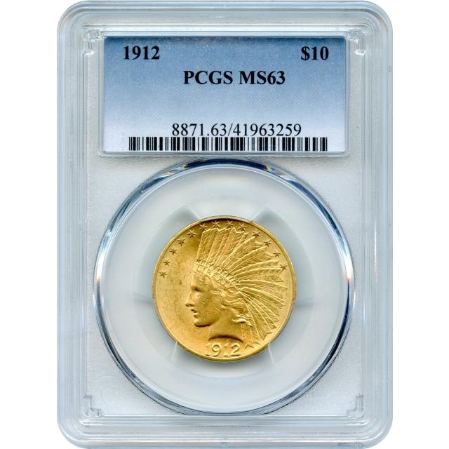 1912 $10 Indian Head Eagle PCGS MS63