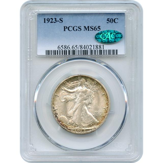 "1923-S 50C Walking Liberty Half Dollar PCGS MS65 (CAC) ""Condition Rarity"""