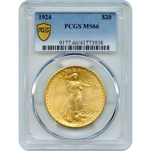 1924 $20 Saint Gaudens Double Eagle PCGS MS66