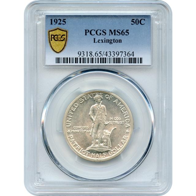 1925 50C Lexington Silver Commemorative PCGS MS65