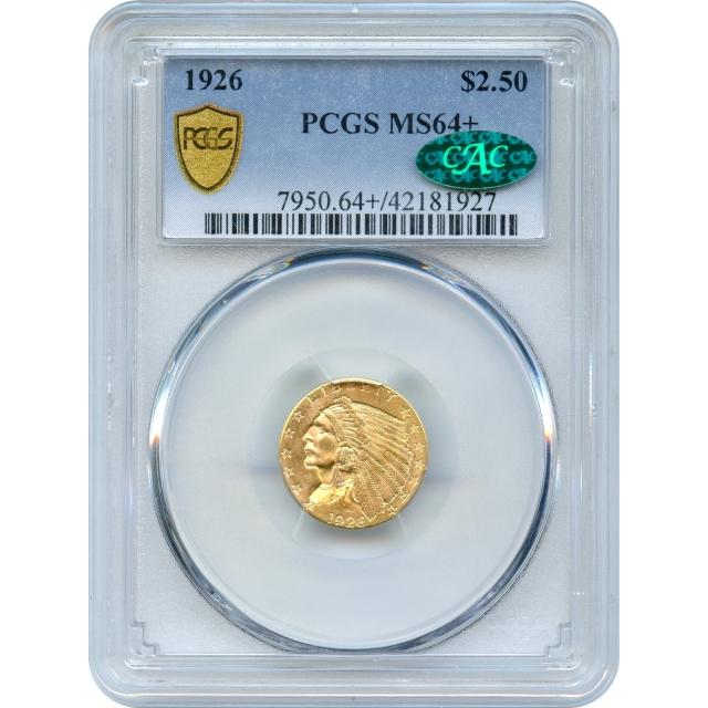1926 $2.50 Indian Head Quarter Eagle PCGS MS64+ (CAC)