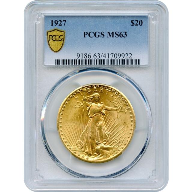 1927 $20 Saint Gaudens Double Eagle PCGS MS63