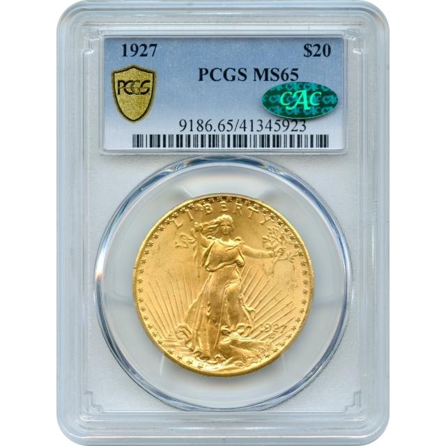 1927 $20 Saint Gaudens Double Eagle PCGS MS65 (CAC)