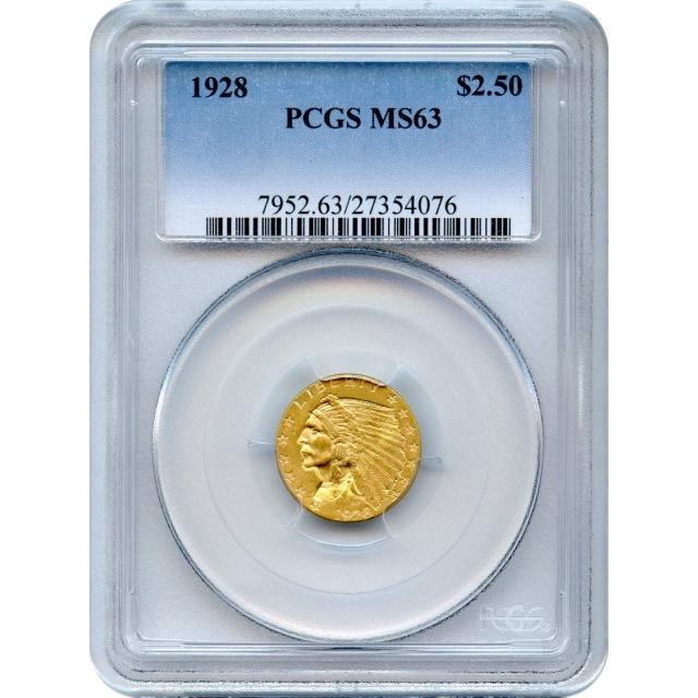 1928 $2.50 Indian Head Quarter Eagle PCGS MS63