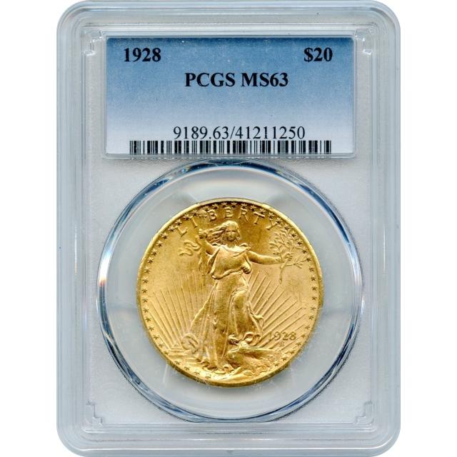 1928 $20 Saint Gaudens Double Eagle PCGS MS63