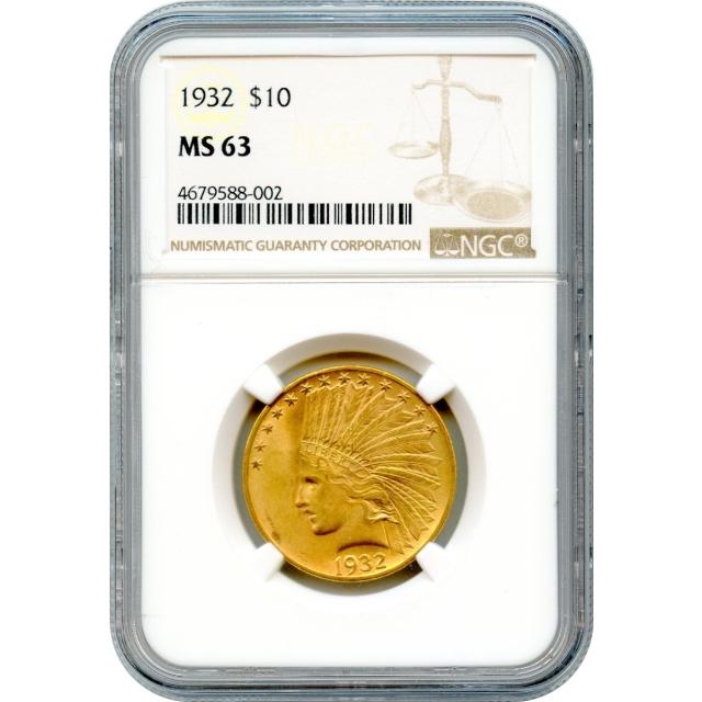 1932 $10 Indian Head Eagle NGC MS63