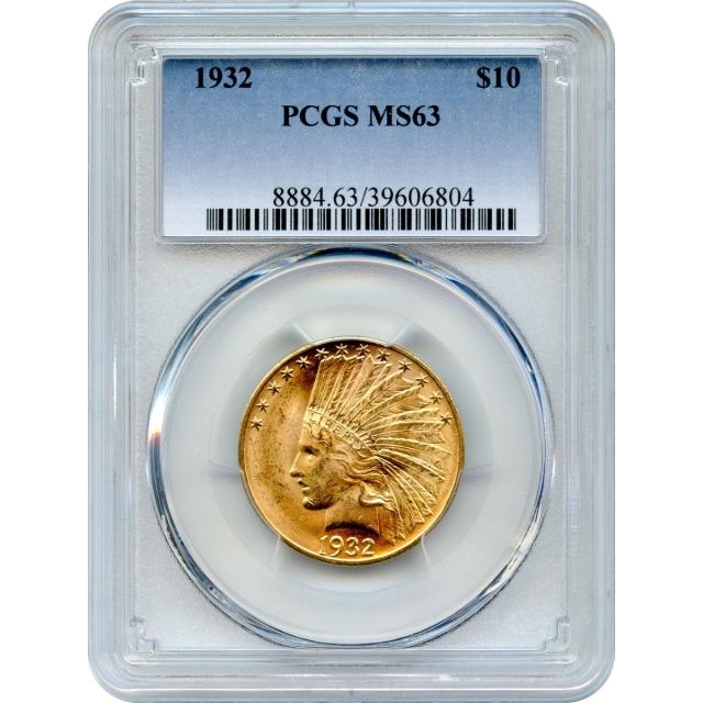 1932 $10 Indian Head Eagle PCGS MS63